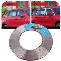 15M 6mm Moulding Trim Silver Chrome Strip Car Door Edge Window Bumper Grille DIY
