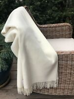 Extra Quality Merino Wool Blanket With Cashmere Organic Wool Throw 55x79 In Eco