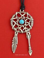 Dream Catcher Pendant Necklace faux turquoise Jewellery native american 56mm NEW