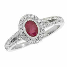 Ovale Echte Edelstein-Ringe mit Rubin