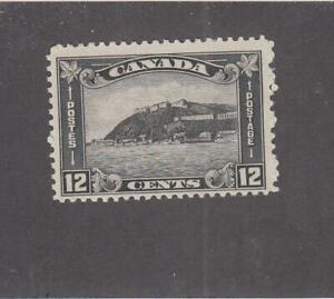 CANADA (MK5659) # 174  FVF-MLH  12cts 1930 QUEBEC CITADEL /GREY-BLACK CV $25