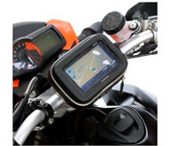 Waterproof Moto Bike Bicycle GPS Case Bag with Stand Mount for SAT NAV Navman