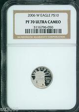 2006-W $10 PLATINUM STATUE of  LIBERTY 1/10 Oz.  EAGLE NGC PF70 PROOF PR70