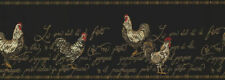 """""""ROOSTER'S""""-RAISED PRINT-BORDER-9""""HIGH-$9.00 PER ROLL-FREE S&H"""