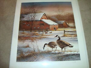"Terry Redlin ""Winter Haven"" Artist Proof Donation Special Edition 12/50 Signed"