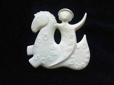 Haviland Prolongeau Prancing Horse Christmas 1972 Porcelain Ornament BEAUTIFUL!!