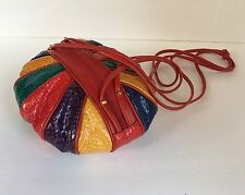 Vintage J. Renee Handbag Snakeskin Round Cross Body Shoulder Bag Women's Purse