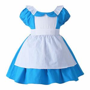 Girls Alice In Wonderland Dress Costume Kids Book Week Fancy Dress