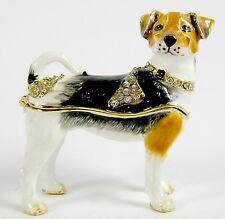 Jack Russell Dog Jewelled Trinket Box or Figurine