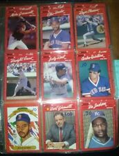 12 Cards '89 Donruss Bo Jackson Royals Rookie Red Sox Diamond Kings Commissioner