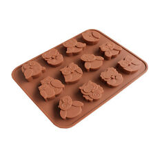 silicone animaux chouette gâteau forme cookies chocolat savon cuire Forme Outil