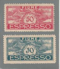 FIUME 1920 GABRIELE D'ANNUNZIO Espresso  Sassone  E1-E2 TIPO LUSSO  MNH** VEDI H