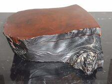 Studio Wood Free Form Decorative Box Attributed to American Artist Michael Elkan