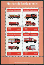 Madagascar 2019 CTO Fire Engines Trucks 4v M/S Stamps