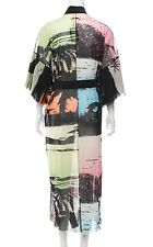 Auth JEAN Paul GAULTIER Soleil ABSTRACT Multi-Color MESH DRESS Swim COVER UP