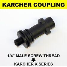 Karcher K2 K3 K4 K5 K6 K7 Bayonet Adapter Coupling to 1/4 BSP Male Screw