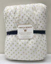 New Pottery Barn Teen Emily & Meritt Tulle Tutu Twin Bedskirt~Gold Dot