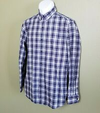 Johnston & Murphy Mens S Checks Plaid Long Sleeve Button Up Shirt EUC