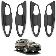 2016 2017 + Doors Handle Bowl Inner Cover Black Trim Fits Toyota Innova Crysta