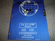 1998 OMC VOLVO STERN DRIVE PARTS MANUAL 5.0 5.7 LITRE MODELS