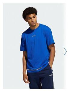 ADIDAS linear Repeat Royal Blue Tshirt Size XL