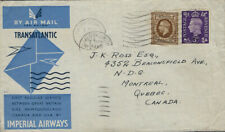 AVIATION :1939 Inauguration of Imperial Airways North Atlantic Service GB-CANADA