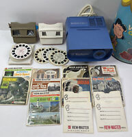 Viewmaster Projector Lot 60s To 90s Vintage Reels Viewers Tested Works With Flaw