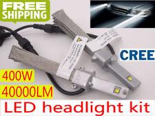 NO NEED FAN 400W 40000LM CREE LED Headlight Kit H4 H7 H1 6000K Light Bulbs Lamp