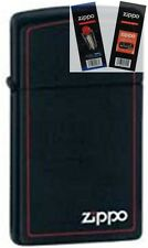 Zippo 1618zb slim with logo Lighter with *FLINT & WICK GIFT SET*