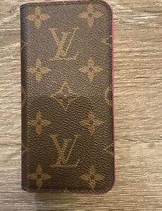 Louis Vuitton iPhone 7 Plus Pink Phone/Wallet Case