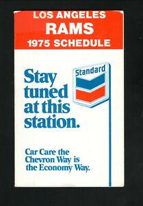 Los Angeles Rams--1975 Pocket Schedule--Chevron