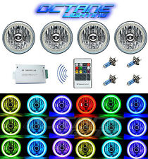 5-3/4 RGB SMD Color Change White Red Blue Green LED Halo Angel Eye Headlight Set