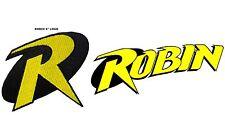 "DC Comics Robin ""R"" Logo (Batman) Embroidered Iron/Sew-On 4"" Patch USA Seller"