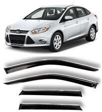 Chrome Trim Window Visors Guard Vent Deflectors For Ford Focus Sd/Hb 2010-2018