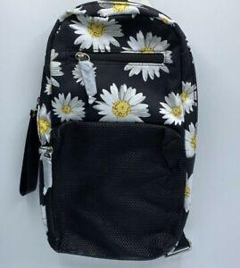 No Boundaries Caden Sling Functional Crossbody Shoulder Bag Backpack Daisy Print