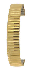 Gold Tone 18mm Stainless Steel Expanding Watch Strap Bracelet.