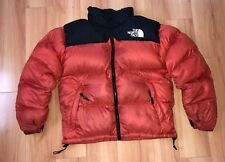 VTG The North Face Nuptse Mango Orange Puffer Jacket Mens Medium Mountain Guide