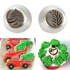 Christmas Tre Icing Piping Tip Russian Leaf Nozzle Cupcake pastry Tool 2Pcs/Set