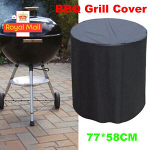 58×77CM Waterproof Round Kettle BBQ Garden Weber Barbecue Grill Cover Protector