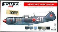 Hataka Hobby Paints LATE WORLD WAR II SOVIET AIR FORCE Acrylic Paint Set