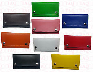 PU Leather Tobacco Pouch High Quality Soft Stylish Lined Purse zipped wallet