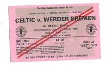 Ticket 1988/89 European Cup - CELTIC v. WERDER BREMEN