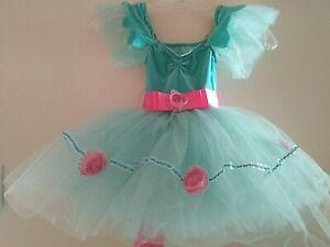 Revolution Dancewear XSC child Xsmall aqua/pink dance costume