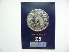 More details for 2021 £5 queen's beast completer base metal bu coin in certified pack brand new.