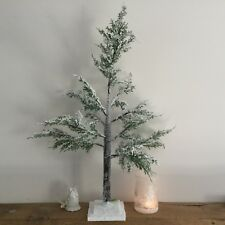 Snow Effect 80cm Tall Artificial Christmas Tree Fir Green Table Top Small