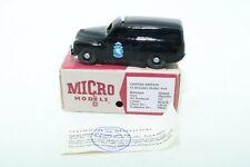 "Micro Models FJ Holden Panel Van ""NZ Transport Department"" - Boxed"