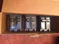 Three Eaton BR220, 2P20 120V Circuit Breaker New in Box