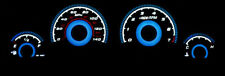 2006-2010 Dodge Charger / Magnum Blue Glow Gauges 140Mph Face Overlay New