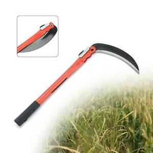 Steel Sickle Scythe Folding Handle Weed Slasher Cut Mowing Sickle Bush Cutter