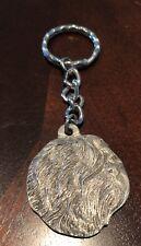 Rare Vintage Tibetan Terrier Dog Rawcliffe Pewter Keychain Key Chain Tibet